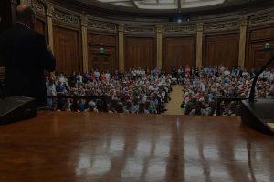Reunión sobre el Banco Popular en el Colegio de Abogados de Barcelona